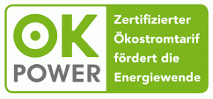 OK Power Siegel - Zertifizierter Ökostrom